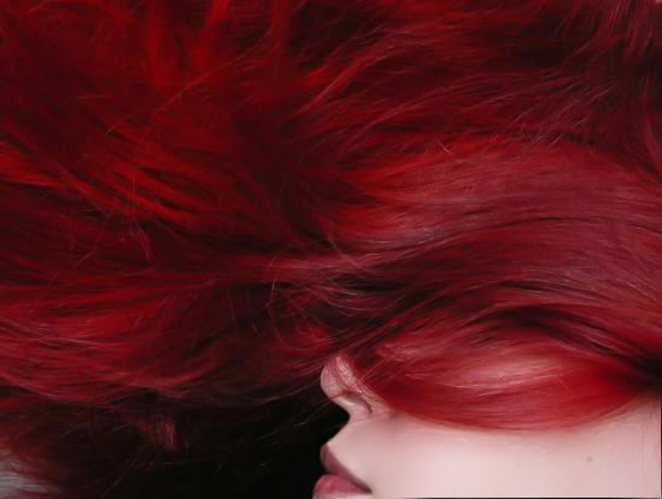 Let Your Hair Down Red Long Hair Close-up Part Of Red Hair Lips Pillar Red Woman Human Face Young Adult Femininity Redhead Person