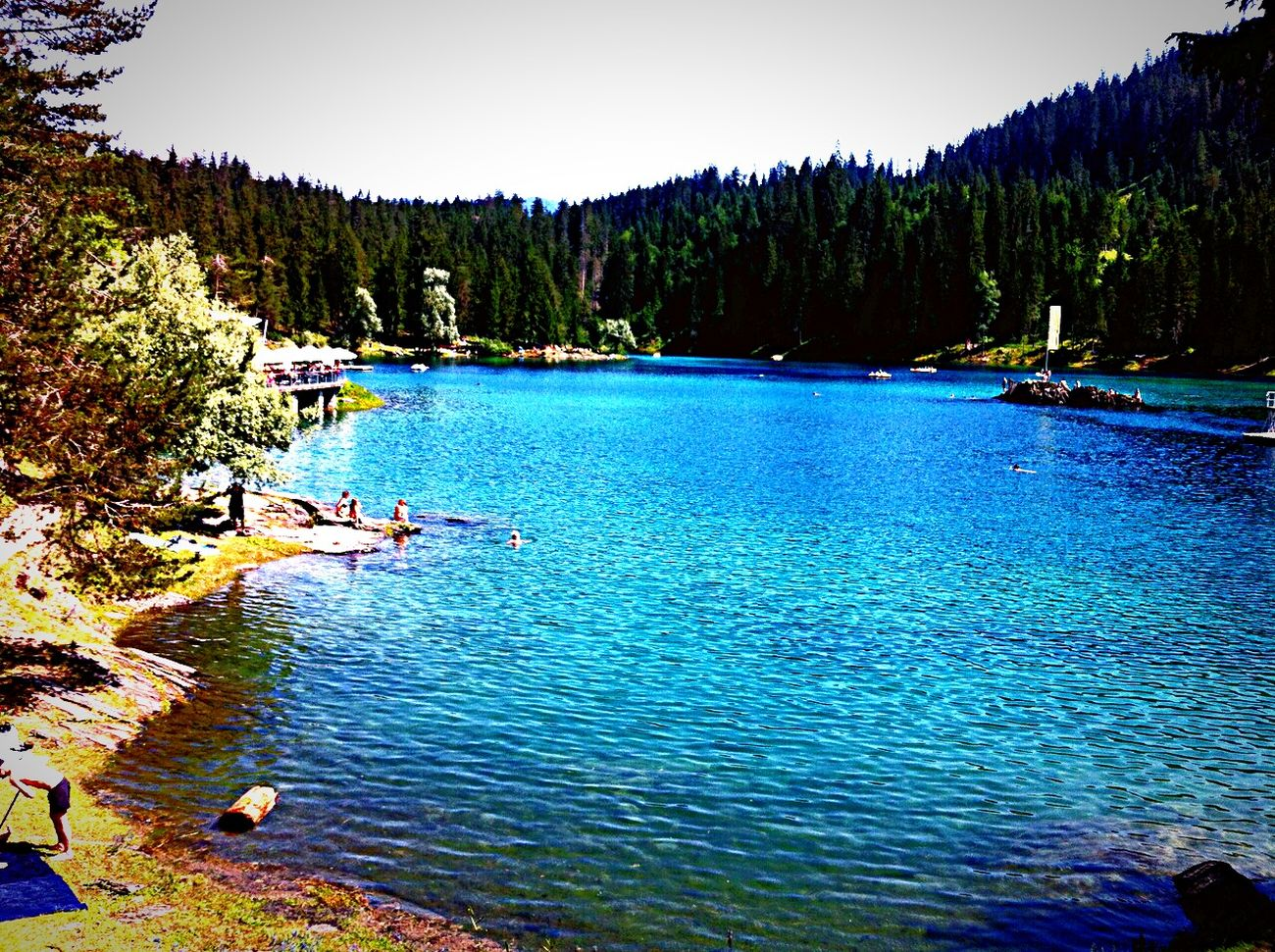 like at the caribbean sea Caumasee Flims Graubuenden