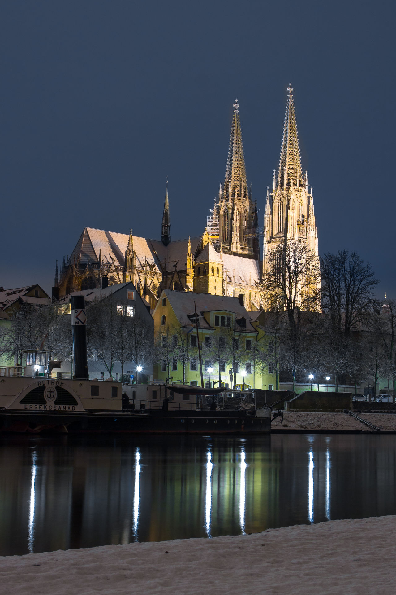 """""""Regensburg at night"""" Architecture Architecture_collection Building Exterior Built Structure City Cityscape Gold Colored History Illuminated Lake Landscape Night Night Lights Nightphotography No People Outdoors Place Of Worship Reflection Sky Tourism Tower Travel Travel Destinations Urban Skyline Water"""