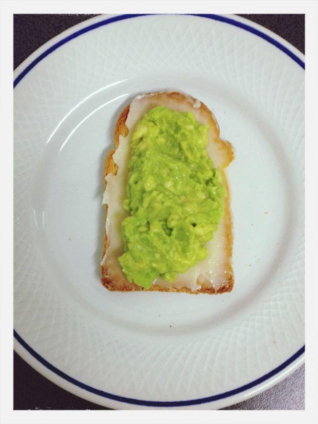 Cream cheese, avocado and crispbread. Food Vegetarian Food Breakfast Crispbread