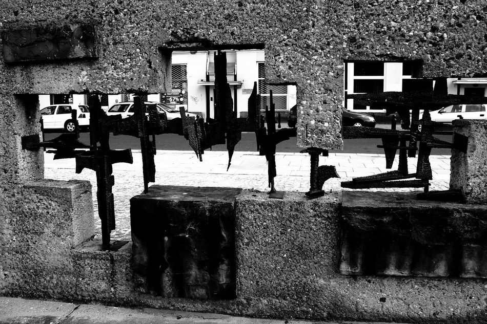 Architecture Black And White Blackandwhite Building Exterior Built Structure City Escape Exploring Exploring New Ground EyeEm Best Shots EyeEm Black&white! Life Through A Lens Looking Low Section Miles Away Monochrome Outdoors Poland Prison Shadow Urban Exploration Urban Geometry Warsaw Warsaw Poland WarsawCity