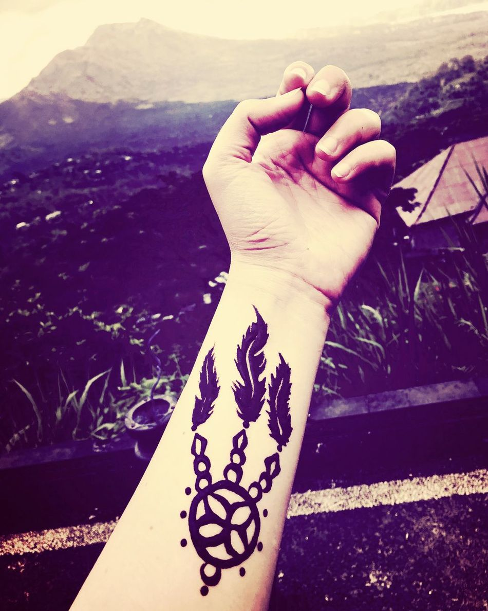 Tattoed in Bali :) Human Hand Real People Personal Perspective Outdoors Mountain Volcano Tattoo Bali INDONESIA Honeymoon Honeymooners from Egypt