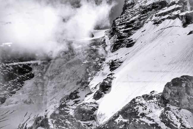Zermatt Switzerland Glacier Snow Mountain Over The Clouds Blackandwhite Monochrome Nature Believe In Yourself Clouds Trust On Your Own Taking Photos Relaxing Enjoying Life