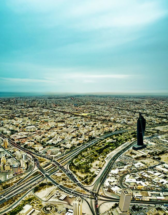 Battle Of The Cities Kuwait Kuwait City كويت الكويت مدينة_الكويت City Built Structure Architecture Cityscape Building Exterior Sky Aerial View Cloud - Sky Travel Destinations Crowded Outdoors Scenics Wide Shot Blue Wide Day City Life Capital Cities  No People