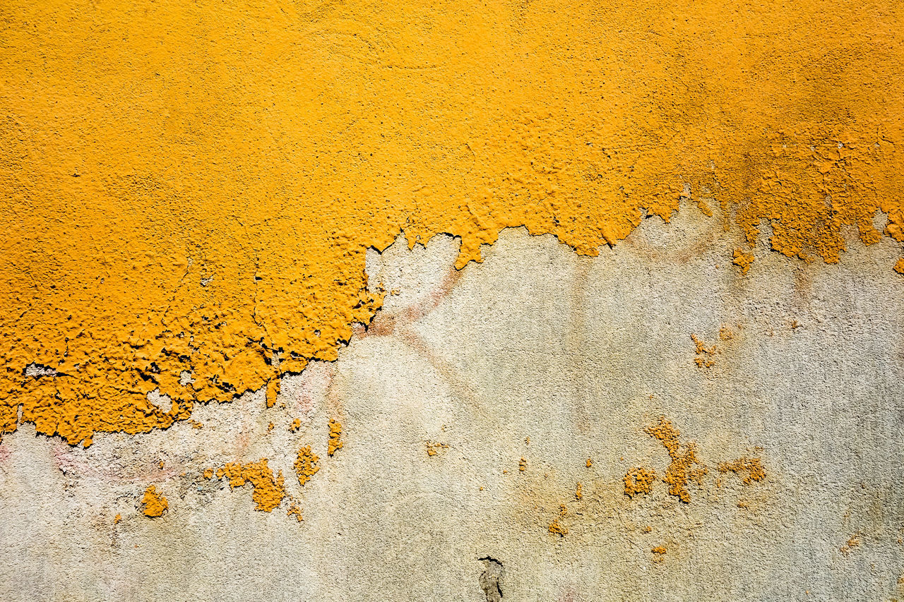 Abstract Background Old Buildings Textured  Vintage Wall Yellow