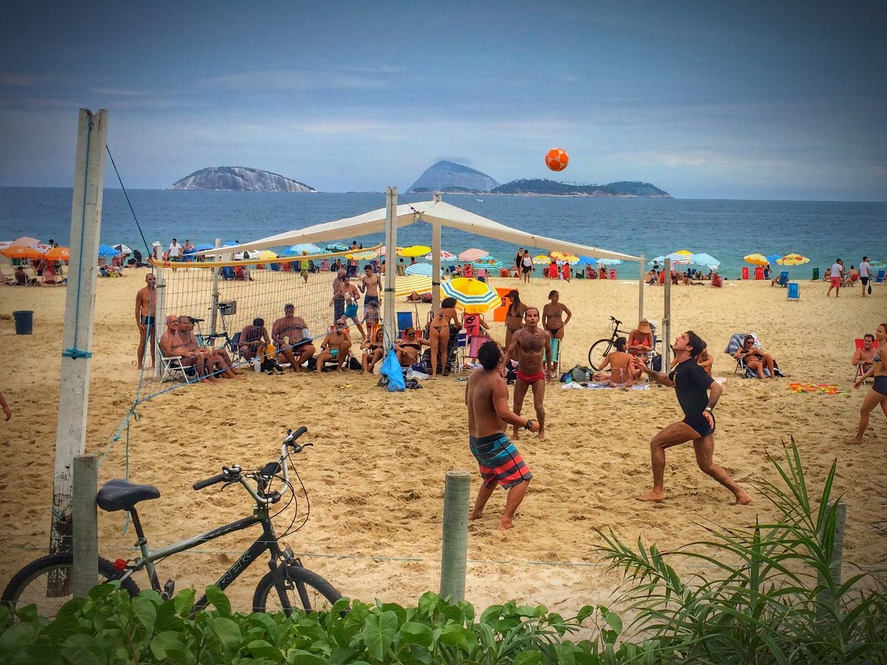 Beautiful stock photos of strand, Beach, Beach Umbrella, Beach Volleyball, Bicycle
