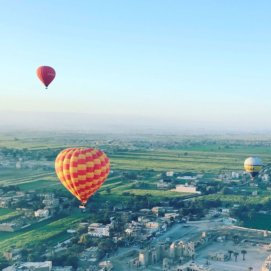 The Photojournalist - 2017 EyeEm Awards viewing the world from above is completely different than viewing it from below, taking a deep breath in the fresh air above while everything in our live seems tiny down below gives you a whole new perspective to everything Hot Air Balloon Luxor Luxor,Egypt Egypt Flying High