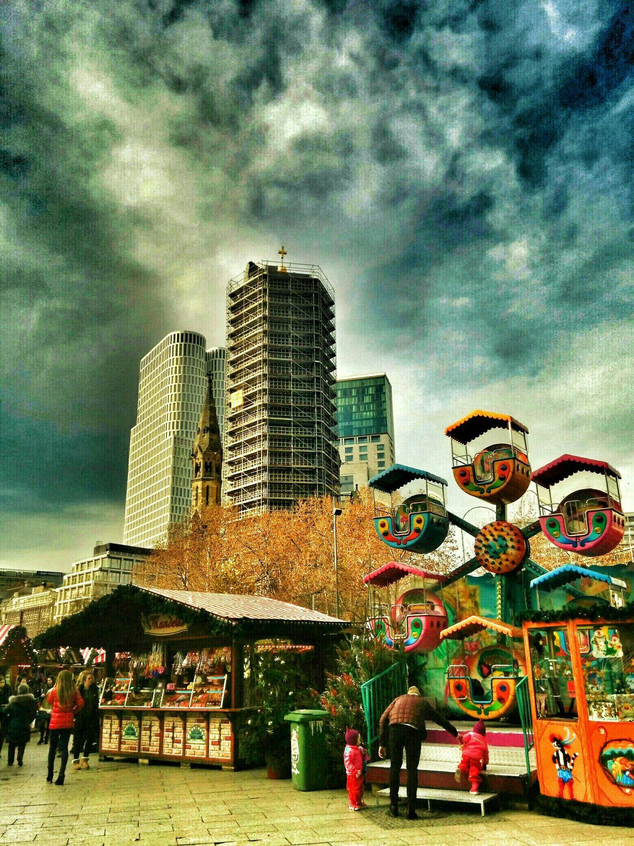 Berlin Zoologischer Garten Berlin Zoofenster Cloud - Sky Skyscrapers Sunlight Skyline Christmasmarket Christmas Market Waldorf Astoria