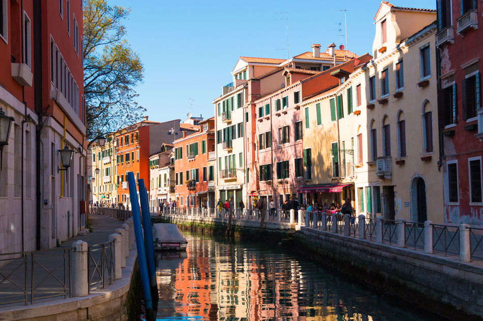 Architecture Building Exterior Built Structure Canal City Clear Sky Day Gondola - Traditional Boat Italy No People Outdoors Sky Venice, Italy Water Window