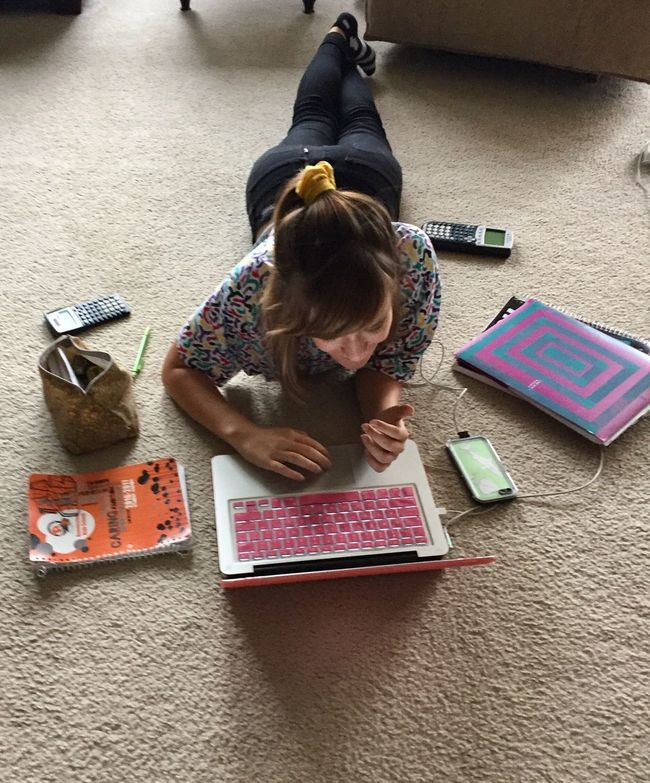 Homework- industrious teen Full Length Vertical Indoors  Child High Angle View One Person Looking Down Education People Day Formula Teen Girl Smart Girl