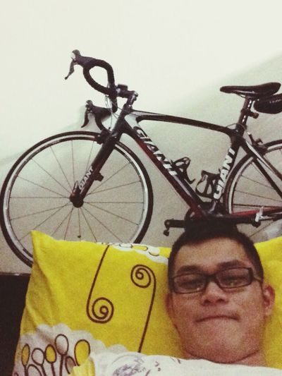 Thinking my next cycling route, hehehe!i am so happy!:D Happy Selfie Cycling Hehehe