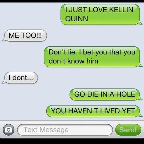 Kellin  Quinn KellinQuinn True @kissingrazors @kellinquinn