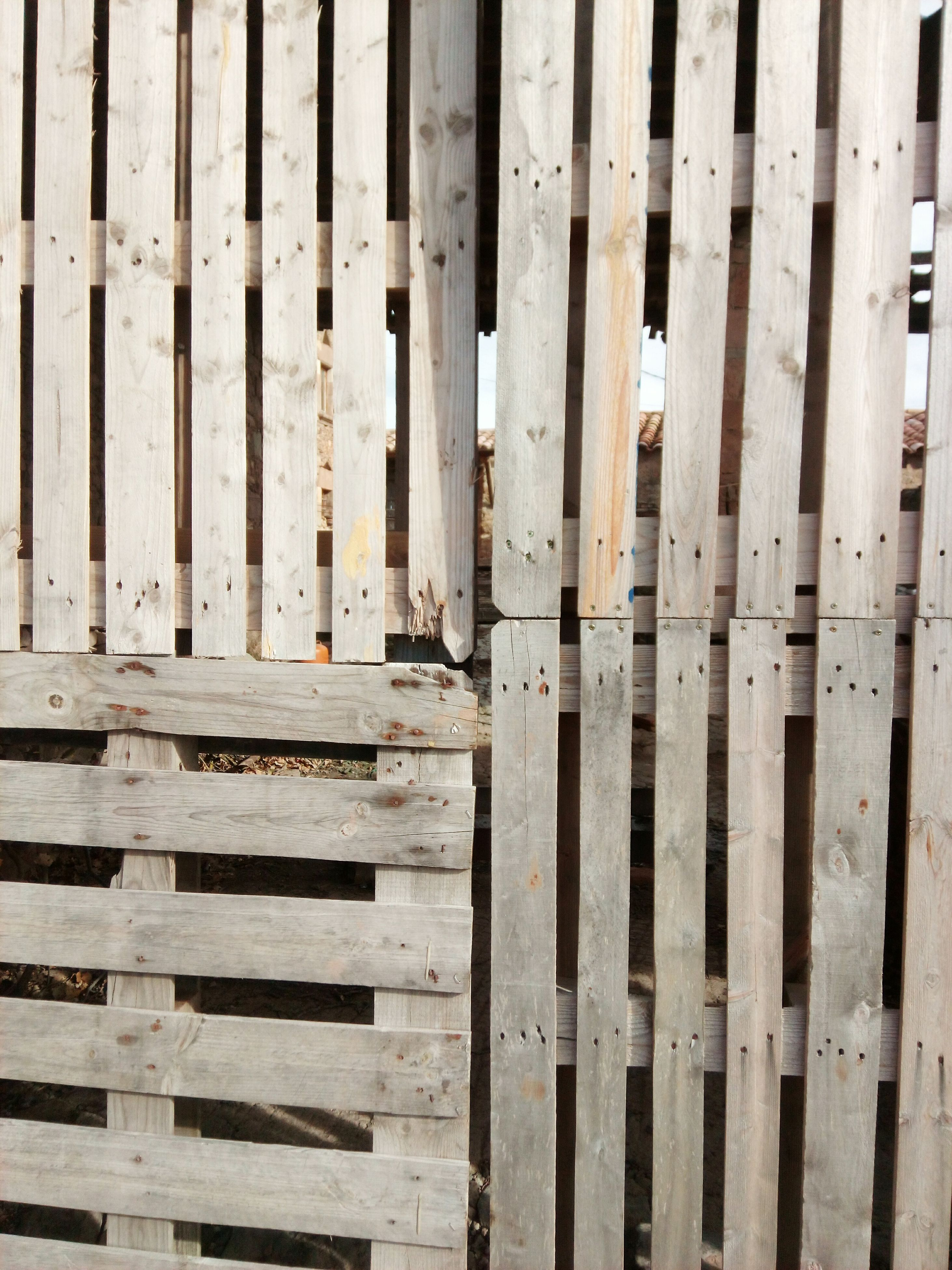 wood - material, plank, backgrounds, full frame, no people, outdoors, picket fence, day