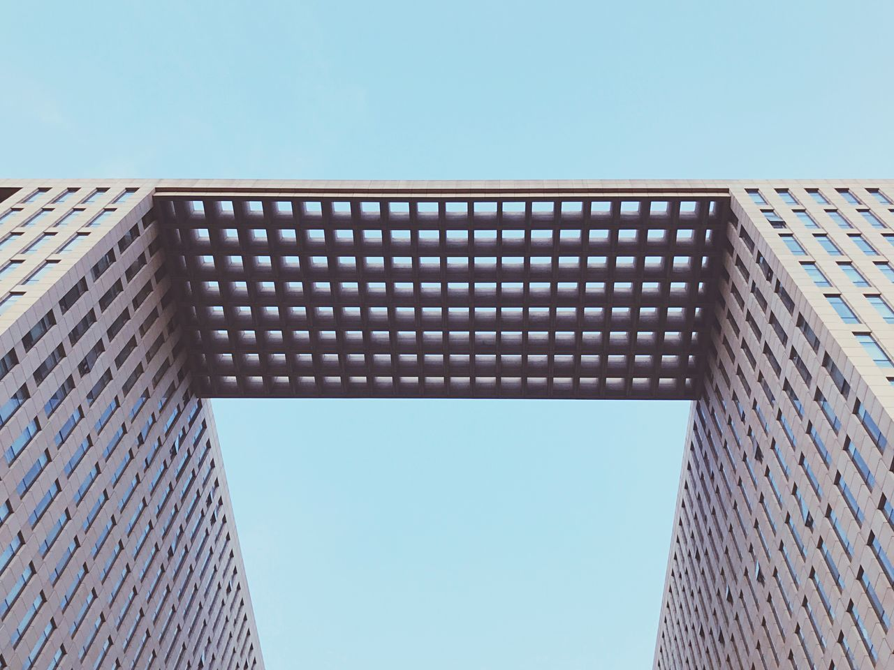 Architecture Built Structure Building Exterior Skyscraper Low Angle View Clear Sky Modern Day Blue No People Outdoors Tall City Sky