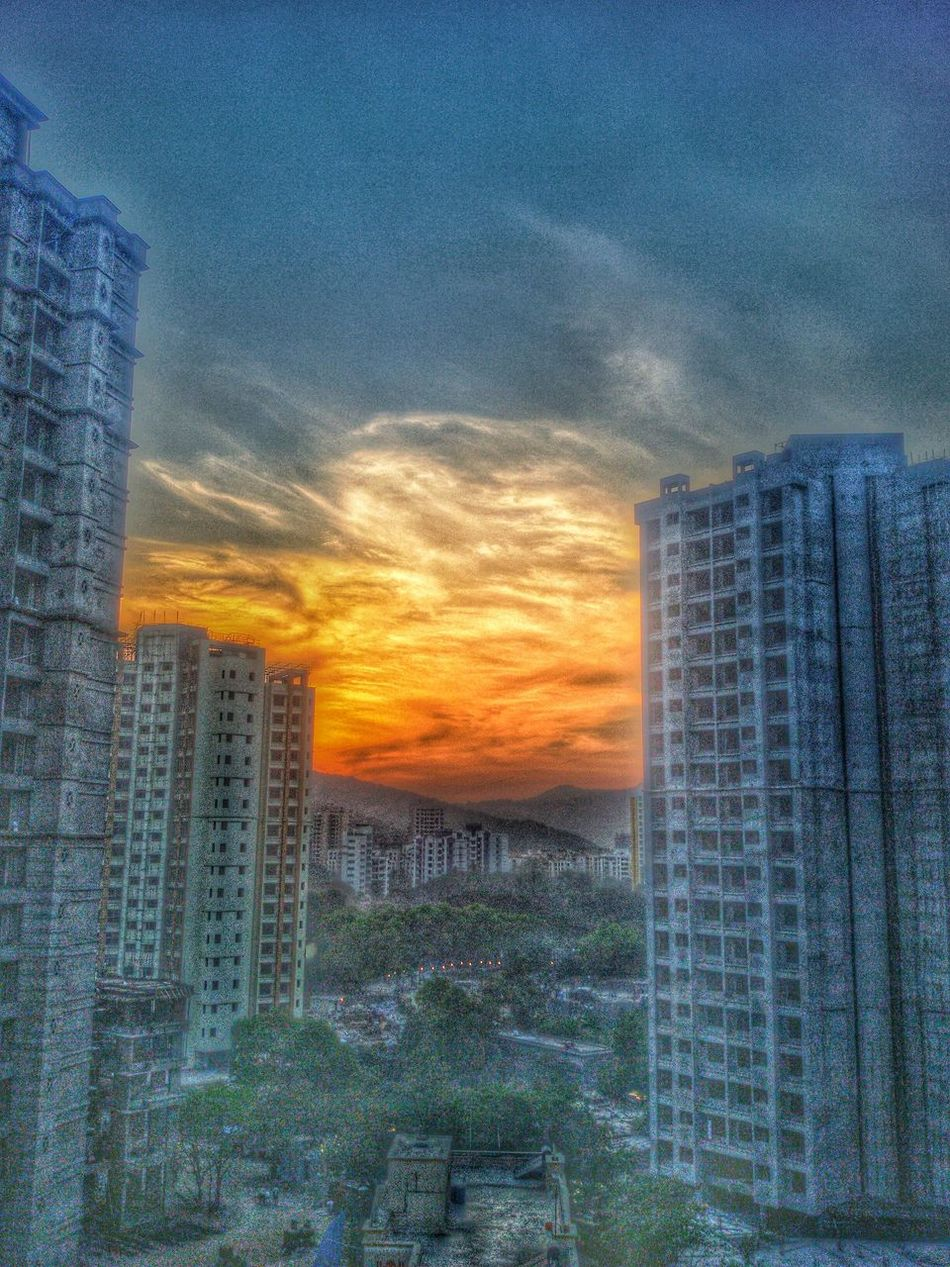 Sunset Architecture Cloudporn Cloudscape Eveningslikethese Filter Hiranandani Home Thaneigers Wintersky