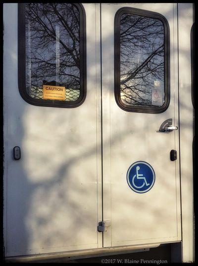 """Door Series, """"door under pressure"""" Doors DoorSeries Doortraits Transportation Public Transportation Bus At A Stoplight"""