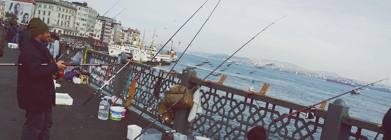GalataBridge Sundaymorning Streetphoto_bw Fishing People And Places