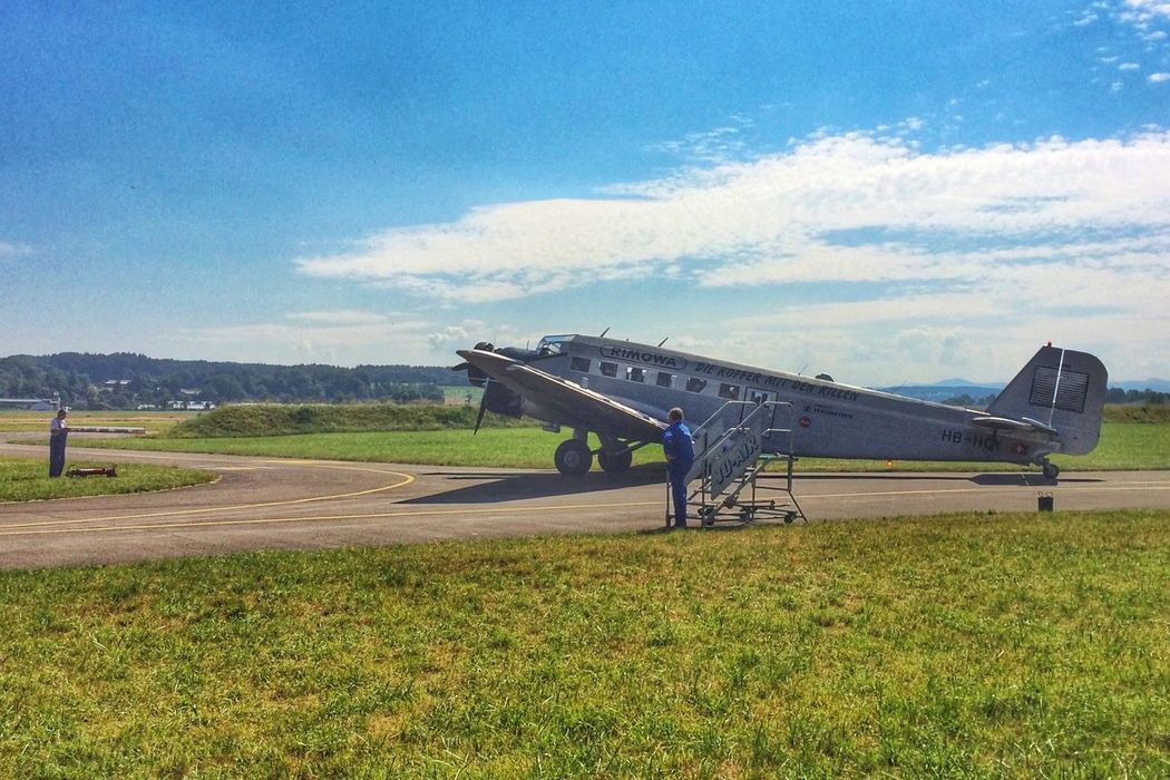 Starting preparations Ju-52 Airplane EyeEmSwiss Hdr_Collection Airport