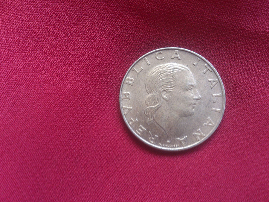 Italian Lira Coin. In Use Before theEuro