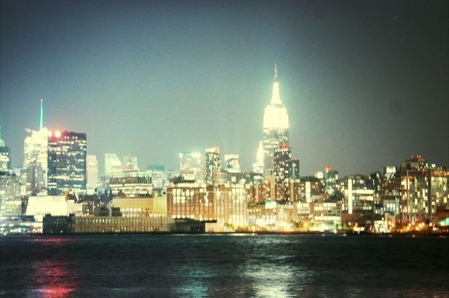 Hoboken New York Night Lights