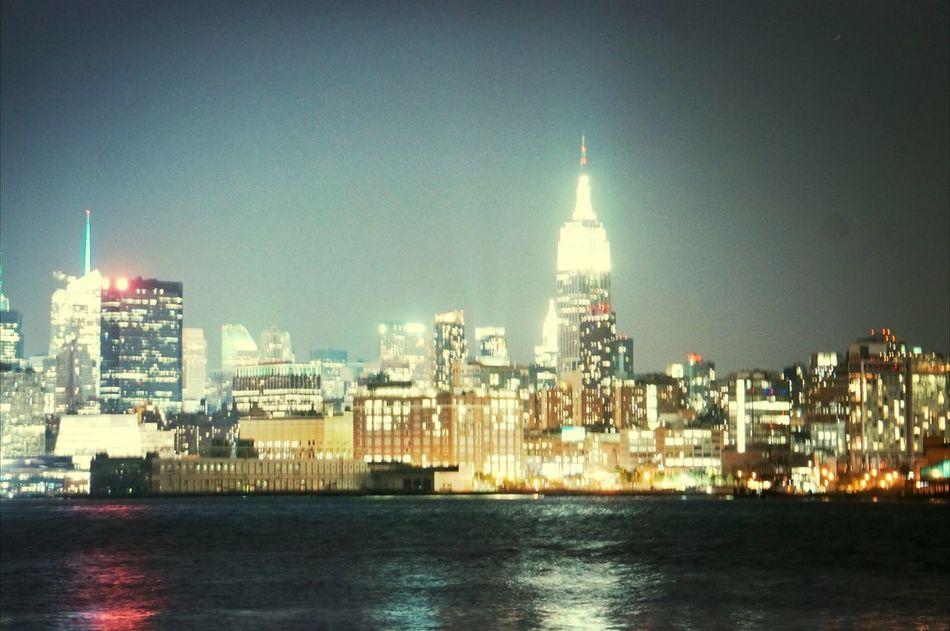 Hoboken New York Night Lights