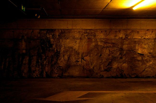 Seeing faces. Wall Underground Seeing Ghosts