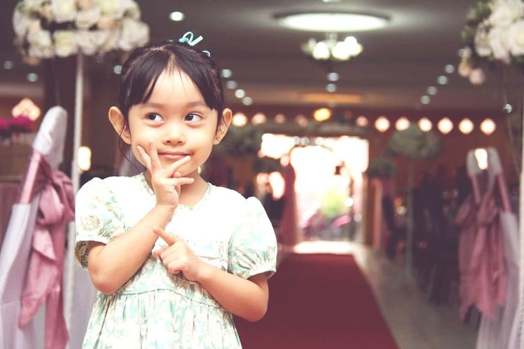 Young Child girls at the weddings Girls Waist Up Portrait One Girl Only Looking At Camera One Person Children Only Childhood Happiness People Smiling Cute Beauty Outdoors Day Adult First Eyeem Photo