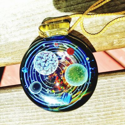 """My new jolex pendy with the hottest color on the market """"serum"""" as a loop. Glassart Jolexglass Headyglass Glassporn Universe"""