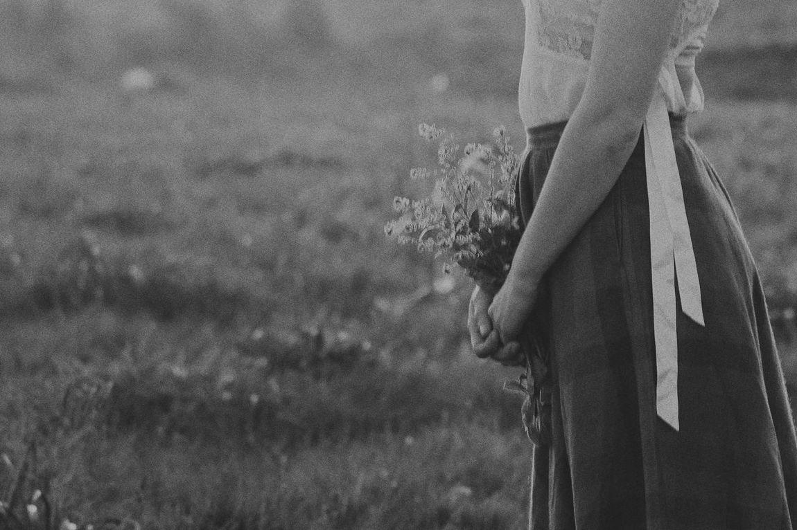 Woman Black And White Bnw Daydreaming Field Flower Collection Girl Lifestyles Nature One Person Outdoors Photo Photography Real People Women Women Around The World