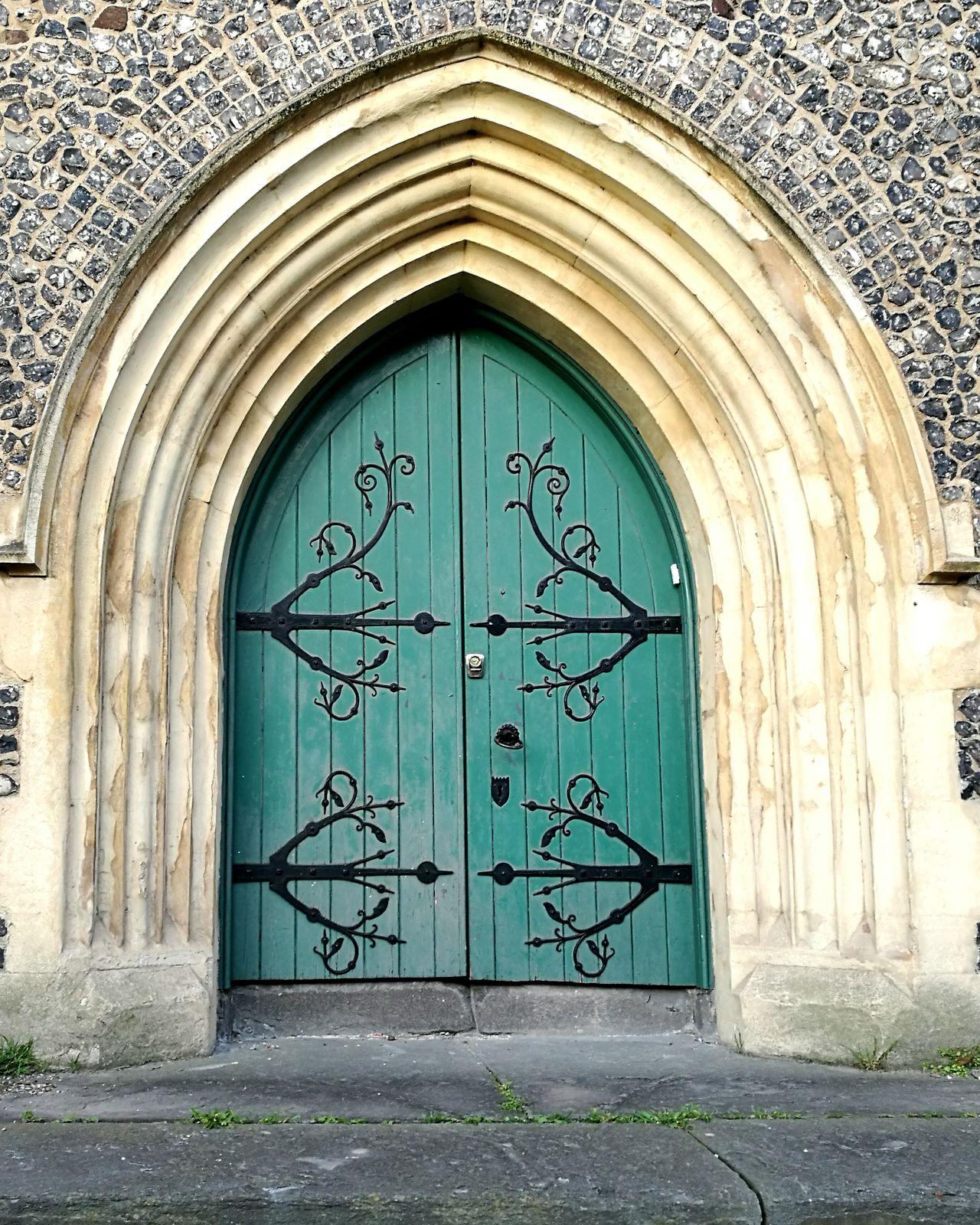 EyeEmNewHere History Old Vintage Built Structure Cultures Green No People Outdoors Swirl Doors Backgrounds Blacksmith  Metal Medieval Elven Elf