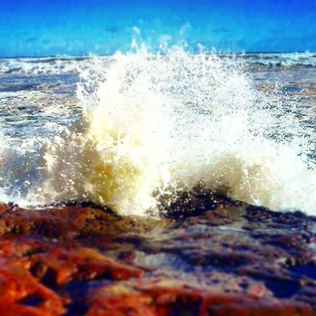 Water today at the beach:) Beach Waves Crashing Being A Beach Bum Enjoying The Sun