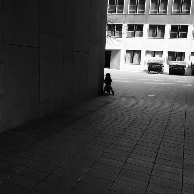 Blackandwhite Urban Geometry Architecture_bw Kids Bike Light And Shadow Vanishing Point Boy The Street Photographer - 2015 EyeEm Awards