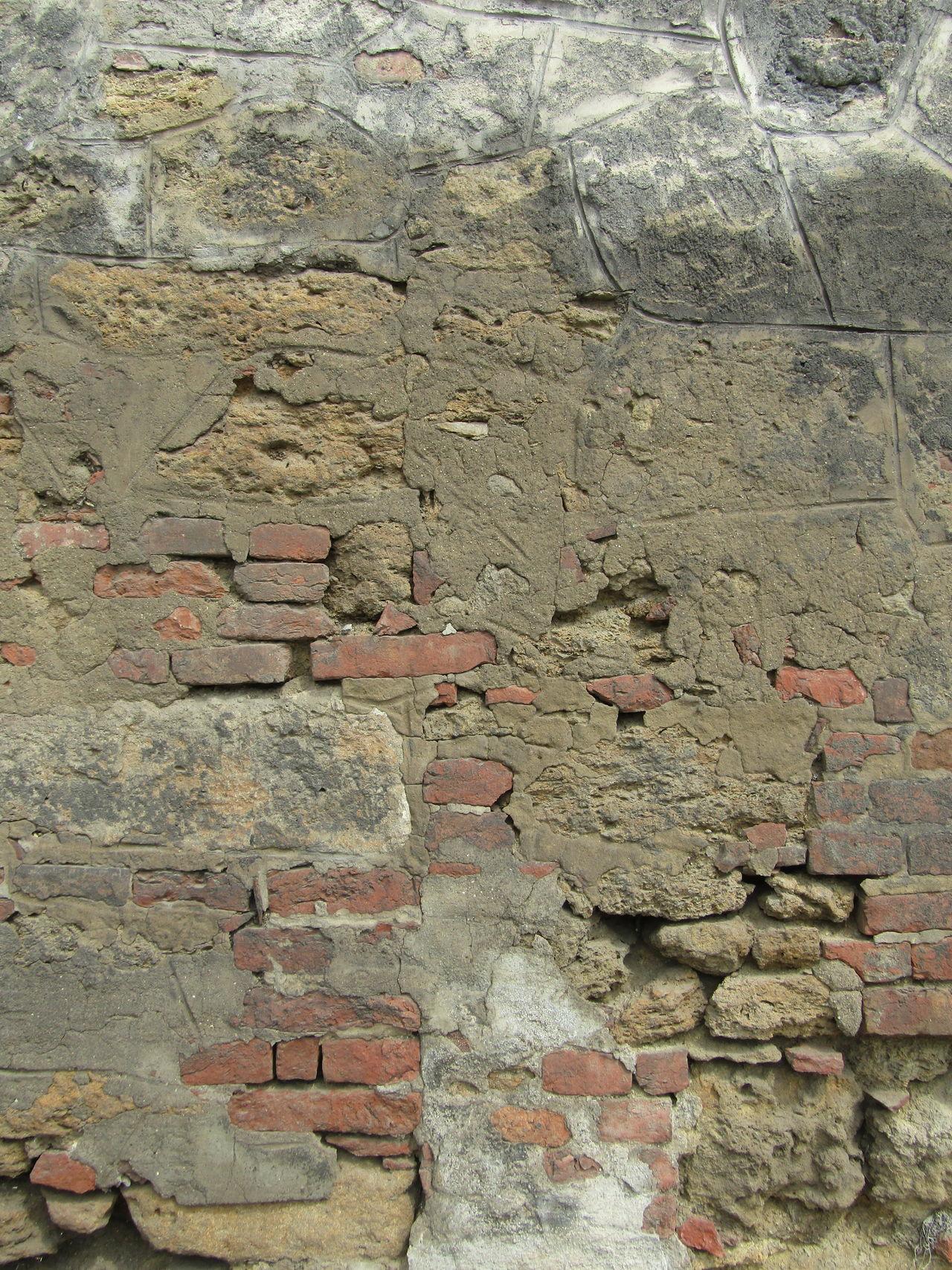 Textured  Verfallene Mauer Brick Wall Brick Ziegel Abandoned Mauer Wall Vienna Wien Weathered Full Frame Pattern Backgrounds Architecture