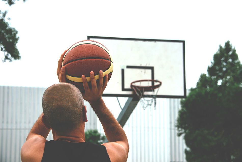 Beautiful stock photos of sports,  35-39 Years,  Aiming,  Basketball - Sport,  Casual Clothing