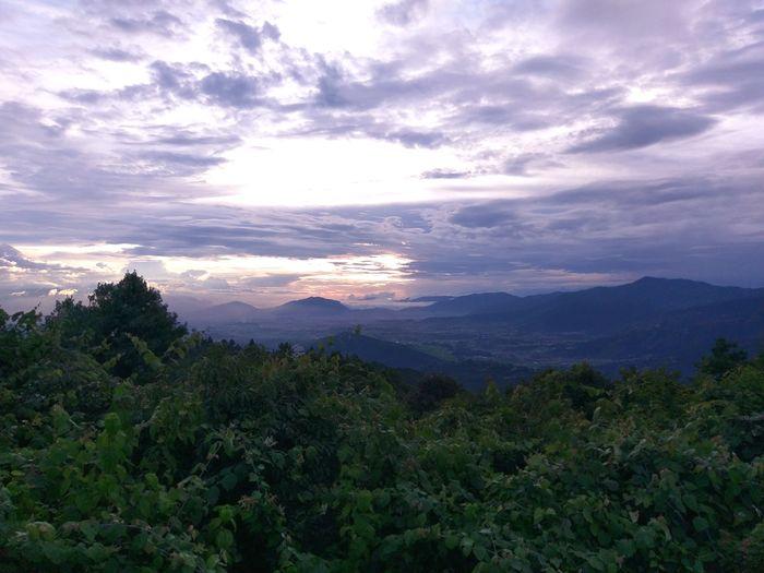 Mountain Range Beauty In Nature Landscape Sky Forest Cloud - Sky Go Green Feel Green Beautiful Place