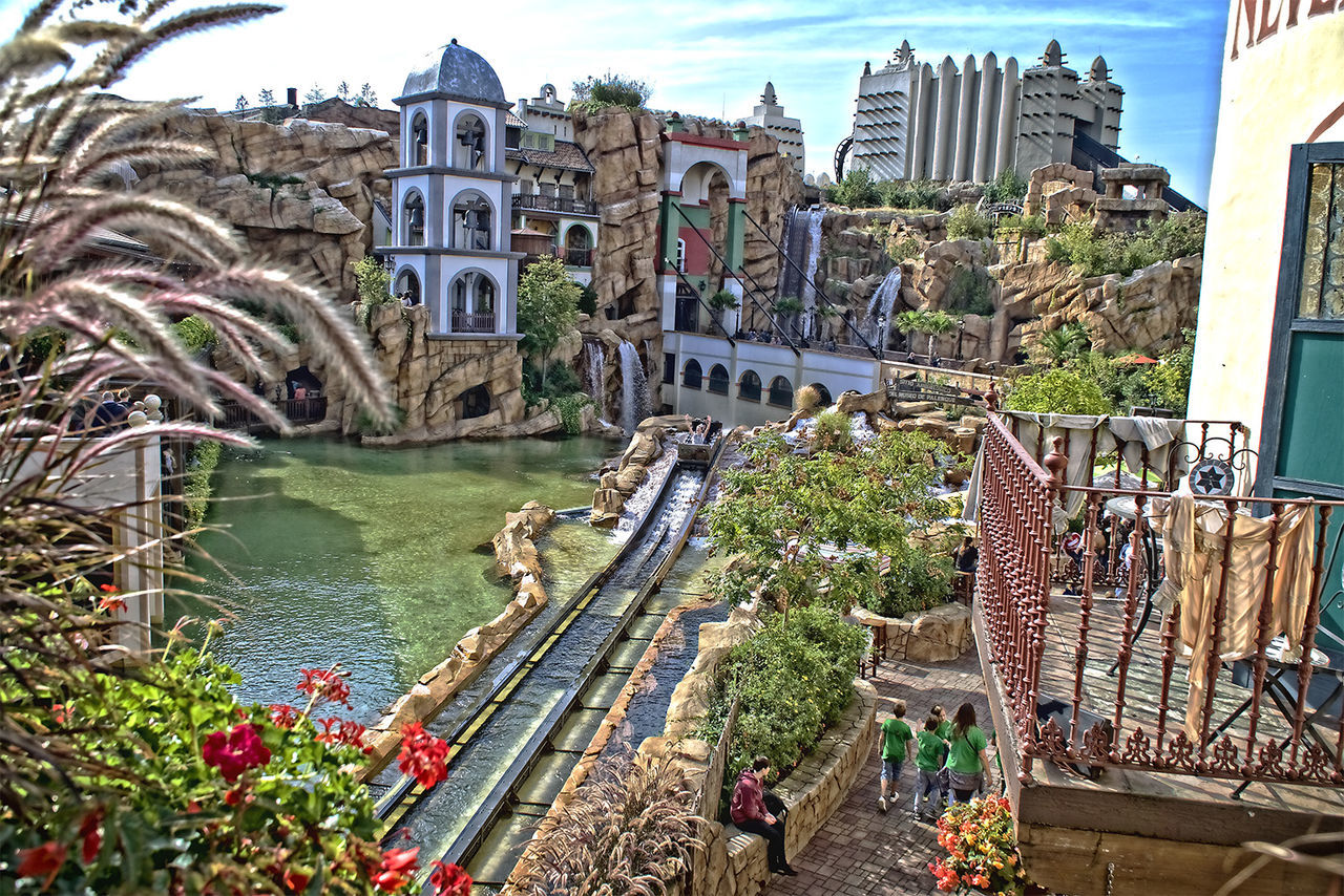 Amusementpark Architecture Built Structure Canal City City Life Day Flower Footpath HD Nature New Outdoors Phantasialand Pretty Sky Travel Destinations Water