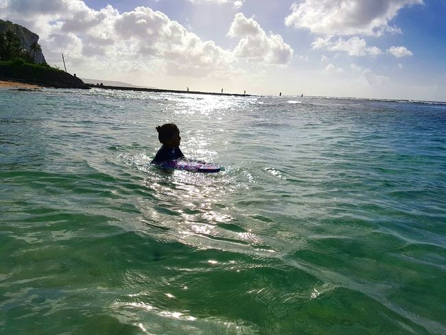 Sea Water Outdoors Nature Family Beach Day Beautiful Girl Alone Time Swimming Time Beauty In Nature Life
