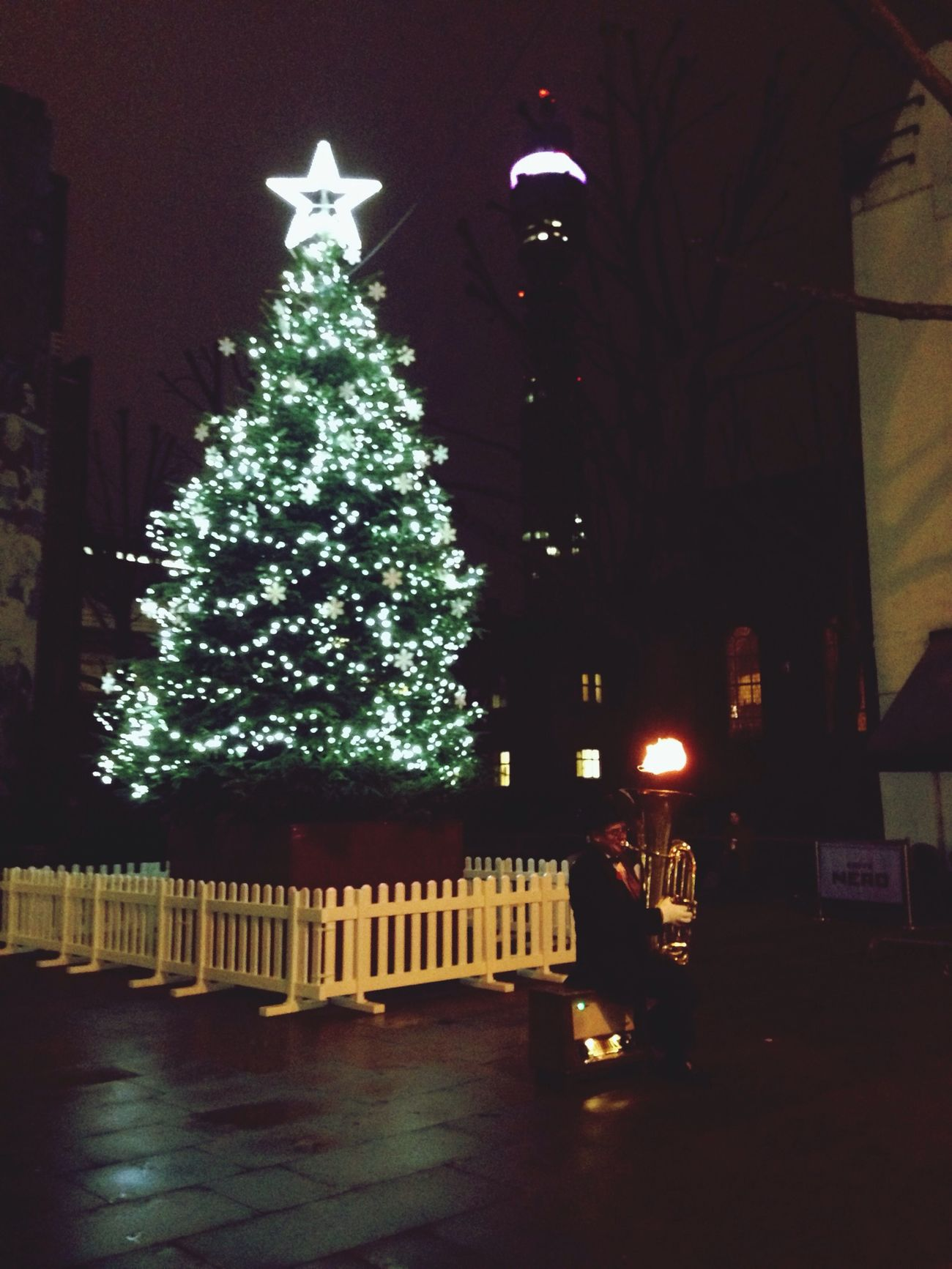 London_only Christmas London BT Tower London Saxophone Christmastree Christmas Tree LONDON❤ Londononly Londonpop