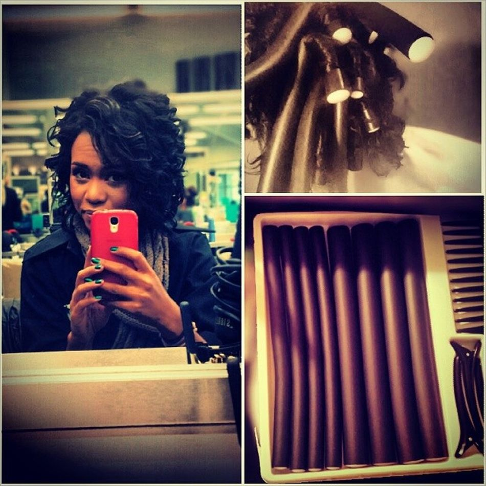 Todays hair using flexirods ♥ Capitoldoll Hairstylist Themagneticbeauty Saphire