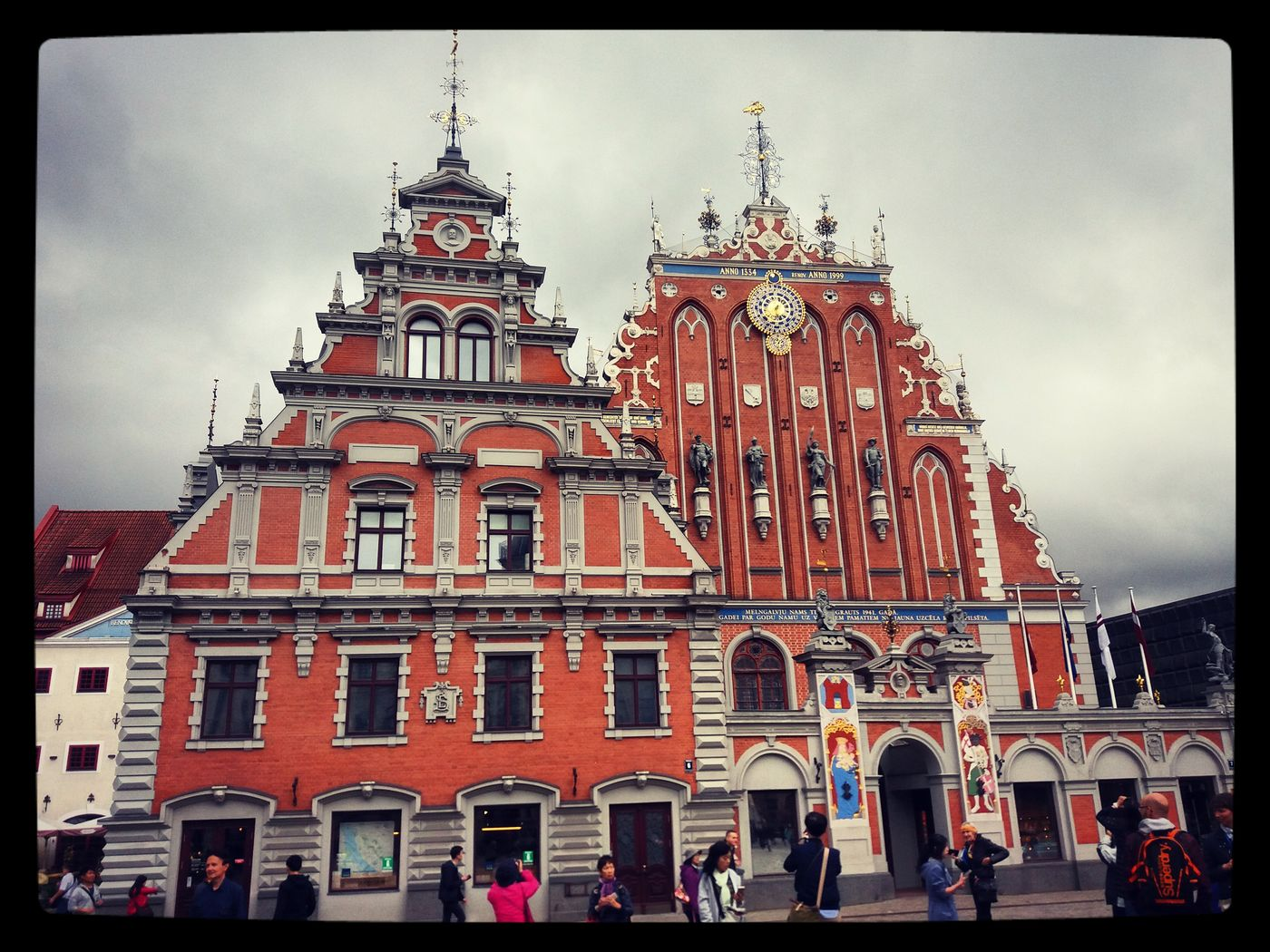 Taking Photos Hello World Architecture House Of Blackheads Traveling Smartphonephotography Riga Latvia