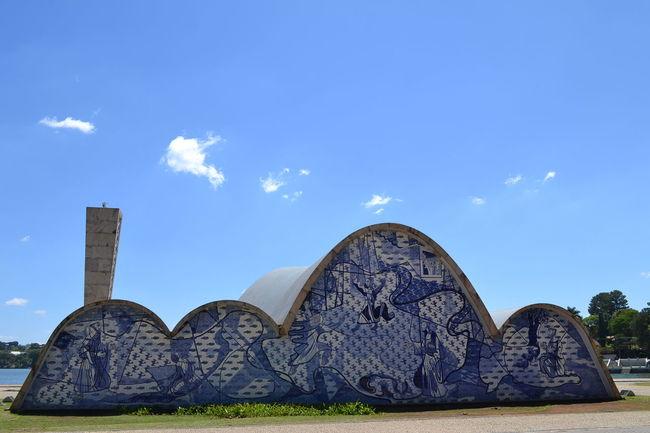 Igreja Pampulha Igrejasaofrancisco Building Exterior Clear Sky Day Blue Tranquility Arch Travel Destinations Sky