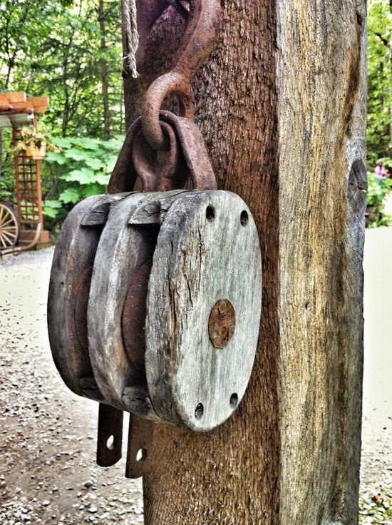 Being A Tourist Wood Art Block And Tackle