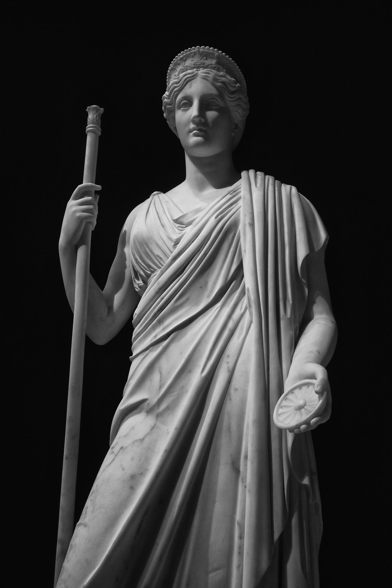 Another statue from Rome's Galleria Nazionale d'Arte Moderna Statue Sculpture Woman Figure Black And White Black & White Blackandwhite Monochrome Italy Rome Classical God Deity ArtWork Art Stone Marble Historic
