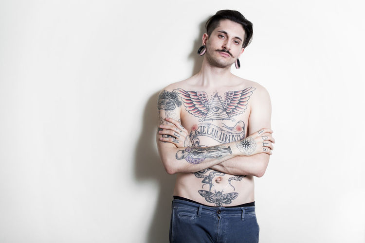 beautiful tattooed man on wall Man, Young, Sunglasses, Shirt, Tattoo, Beauty, Guy, Handsome, Fashion, Face, Muscular, Adult, Caucasian, Portrait, Male, Sexy, Body, Person, Model, Cool, Macho, Black, Posing, Hair, Human, Attractive, Stylish, Beard, Expression, People, Lifestyle, Serious