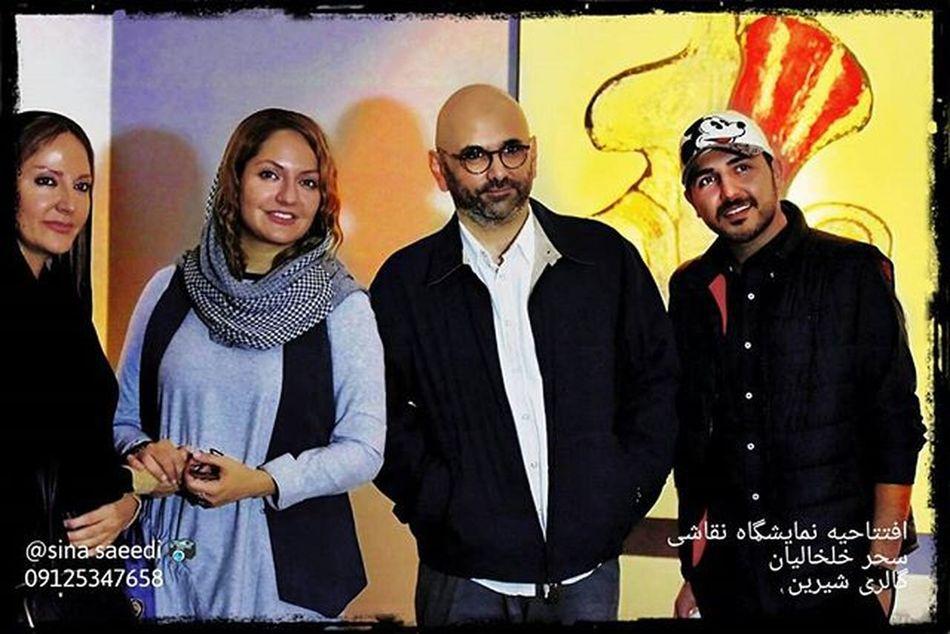حبیب رضایی و مهناز افشار در افتتاحیه نمایشگاه نقاشی سحر خلخالیان گالری شیرین