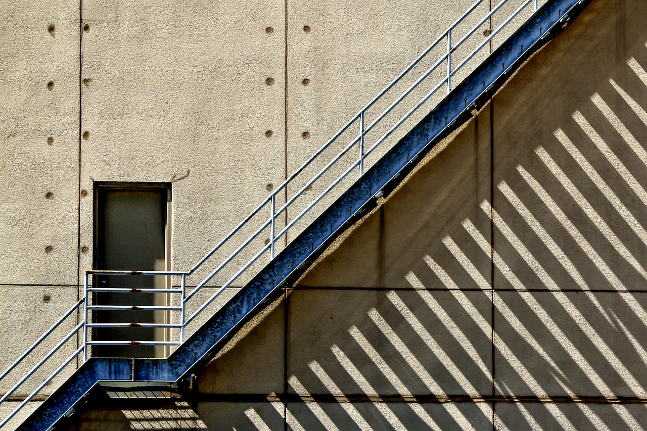 Architecture Building Exterior Built Structure Day Diagonal Low Angle View Minimalism No People Outdoors Shadow Stairs Steps