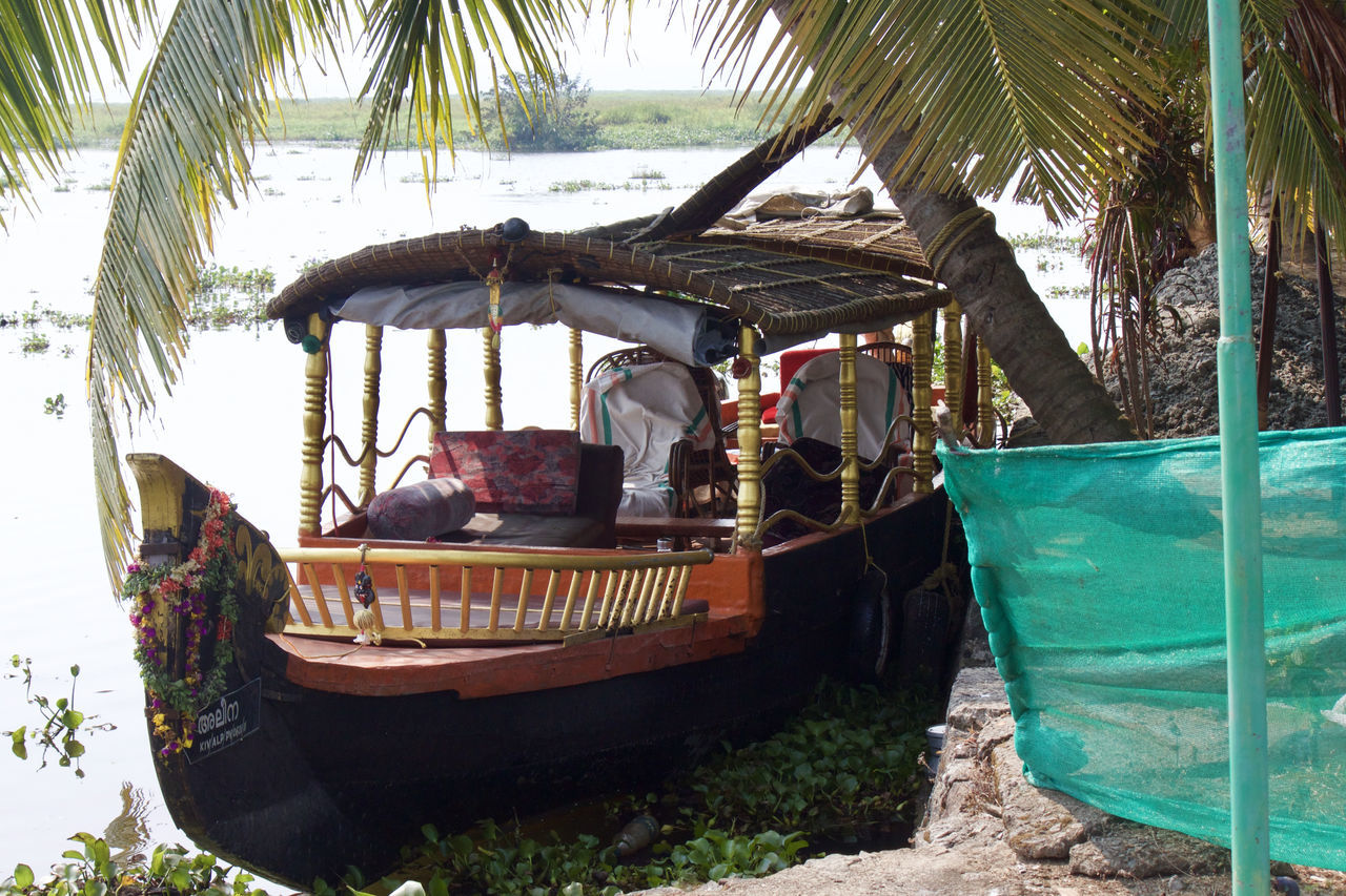 Beauty In Nature Boat Day Kerala Lake Lake View Lakeshore Lakeside Life Lifestyles Natural Beauty Outdoors Palm Tree Plant Scenery Scenics Tour Tourism Tourist Tourist Attraction  Tranquility Tree Water Water Reflections Waterfront
