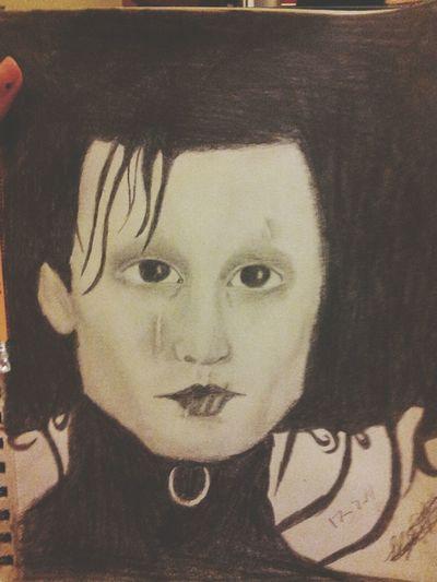 Drawing EdwardSissorHands Johnny Depp Art