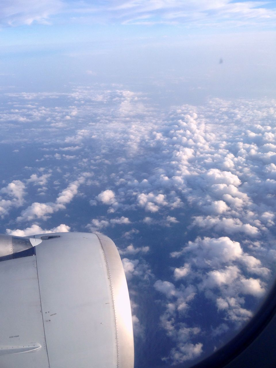 airplane, cloud - sky, sky, journey, air vehicle, transportation, cloudscape, no people, airplane wing, travel, day, mode of transport, jet engine, flying, nature, aerial view, blue, beauty in nature, mid-air, outdoors, scenics