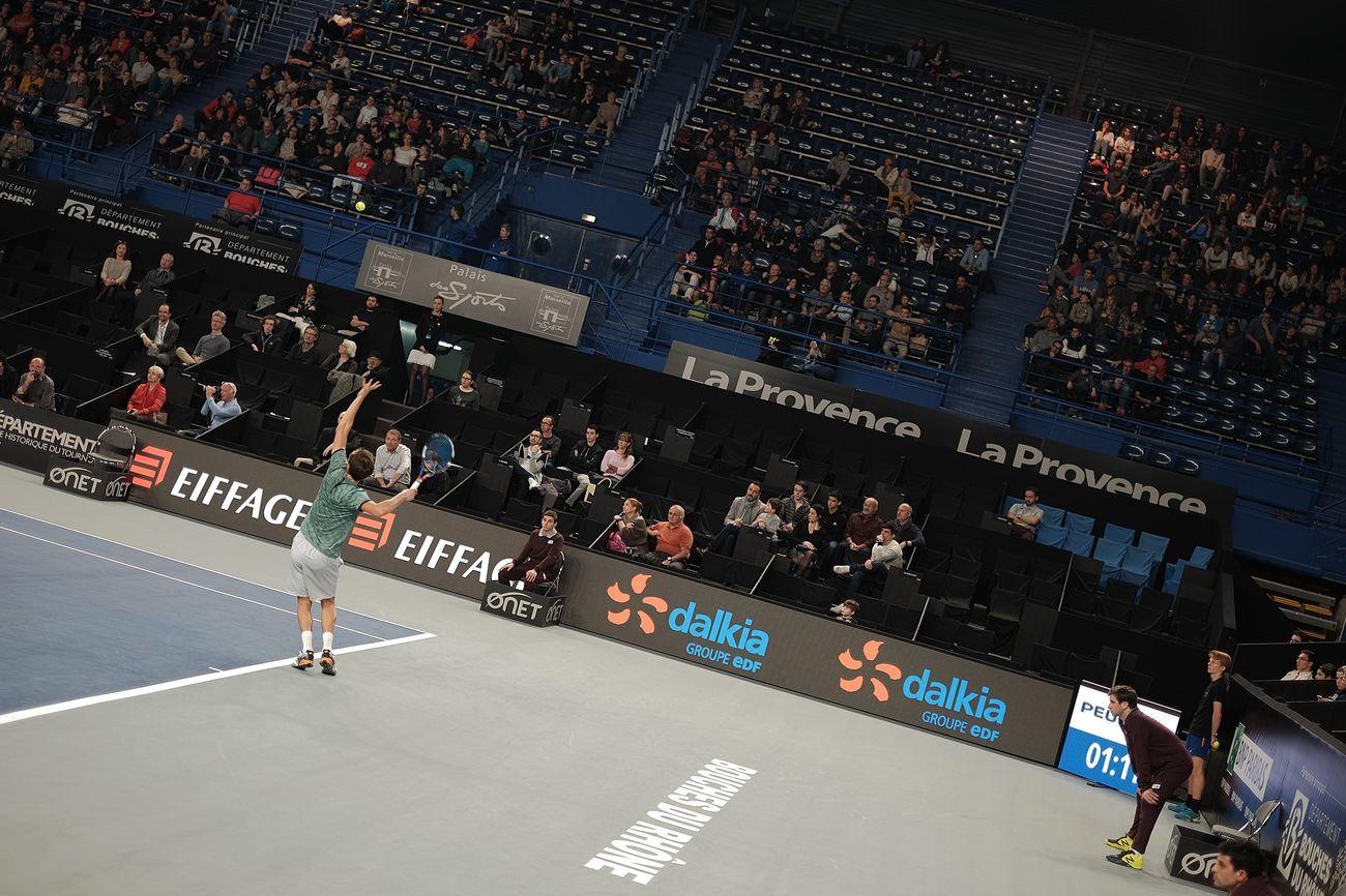 Medvedev's Serve Sport Competition Stadium Large Group Of People People Performance Crowd Athlete Tennis 🎾 Fujifilm X-E2 Stadium Sportsman Adult Match - Sport Competitive Sport Men Leisure Activity Skill  Fujifilm_xseries